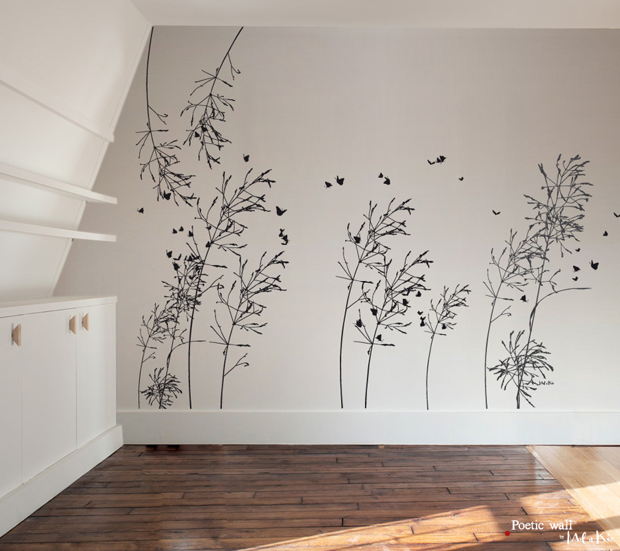 Poetic wall - Murmures - stickers grand format - la sauvageonne