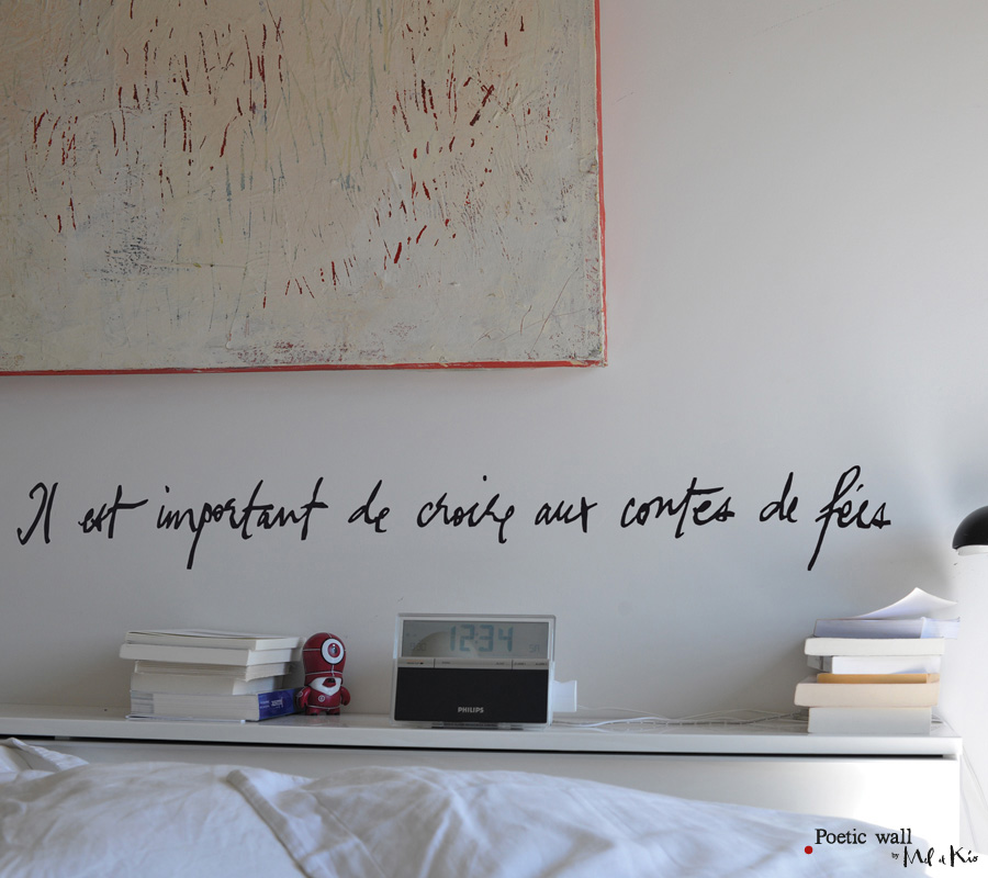 Poetic wall - Stickers texte - Conte de fées
