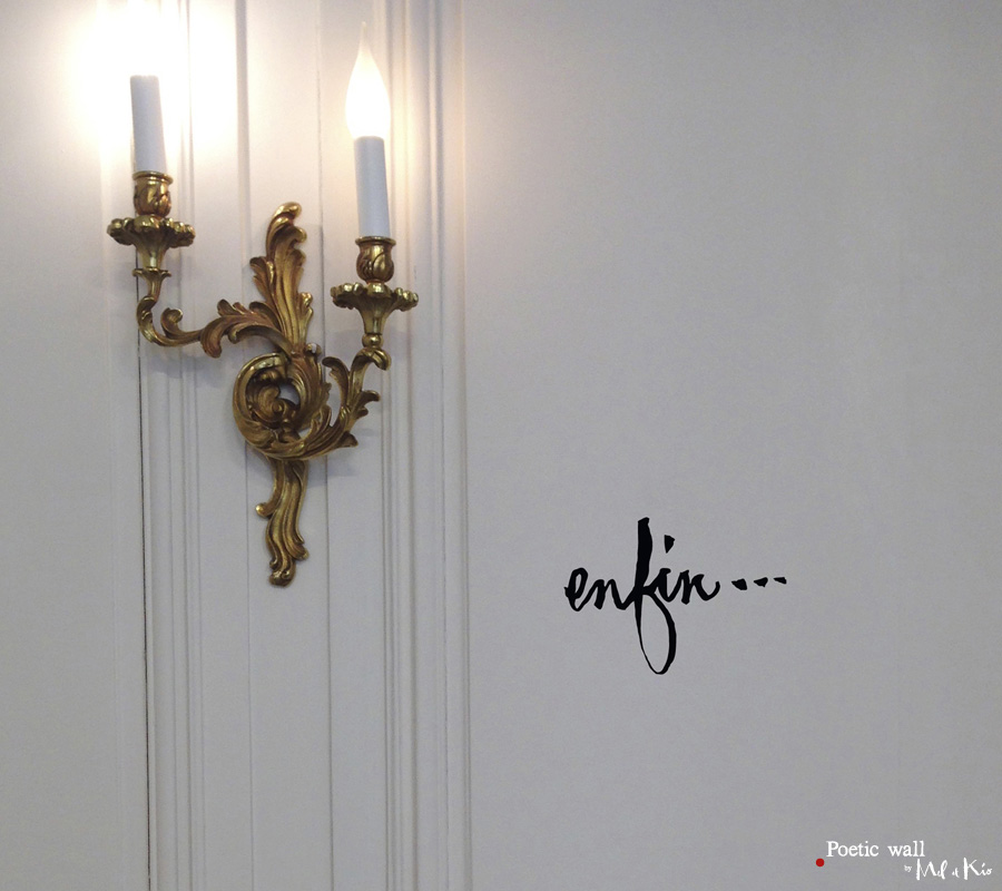 Poetic Wall - Sticker : Enfin…