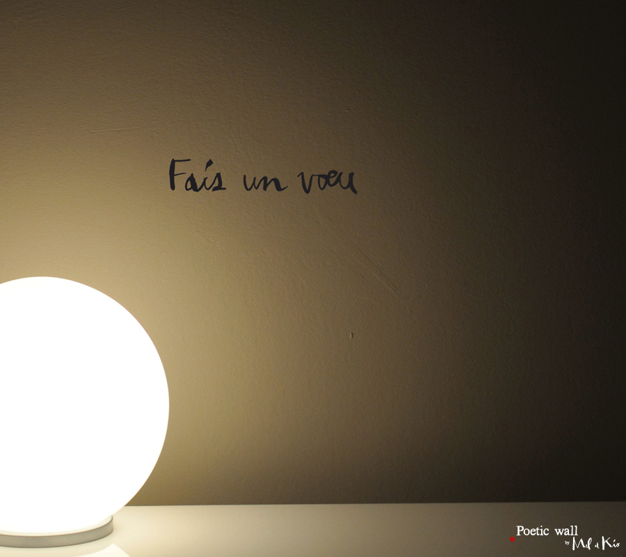 Poetic wall - Sticker - fais un voeu