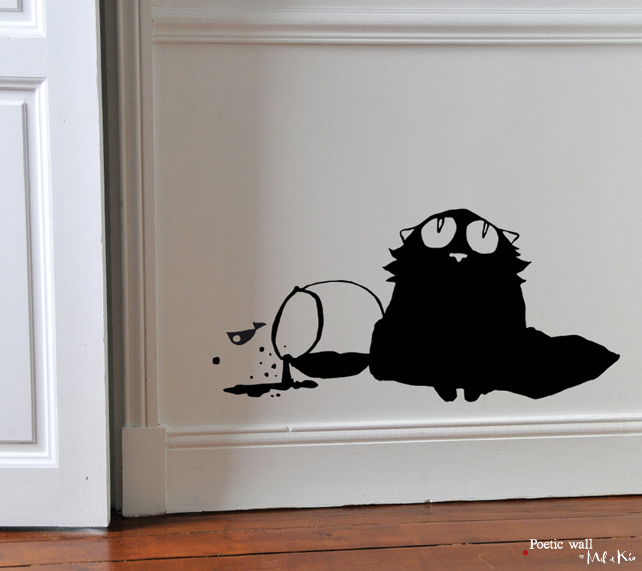 Poetic wall - Stickers dessin - Innocent