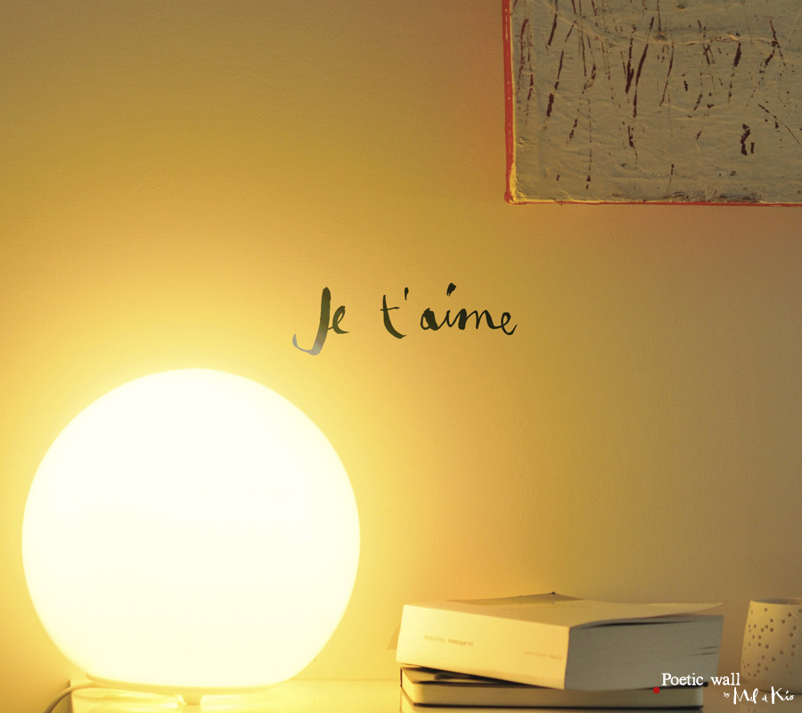 Poetic wall - stickers, stickers - Je t'aime