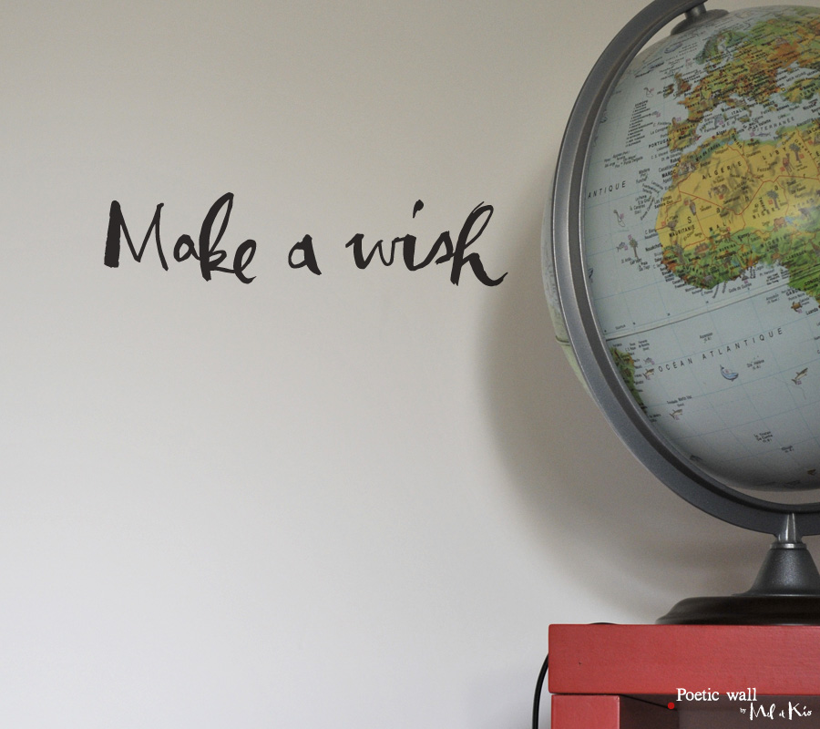 Poetic wall - Stickers texte - Make a wish .15