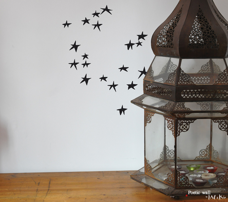 Poetic wall - Stickers dessin - Nuit d'étoiles