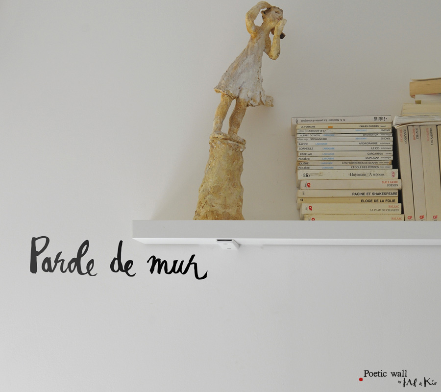 Poetic wall - sticker : parole de mur