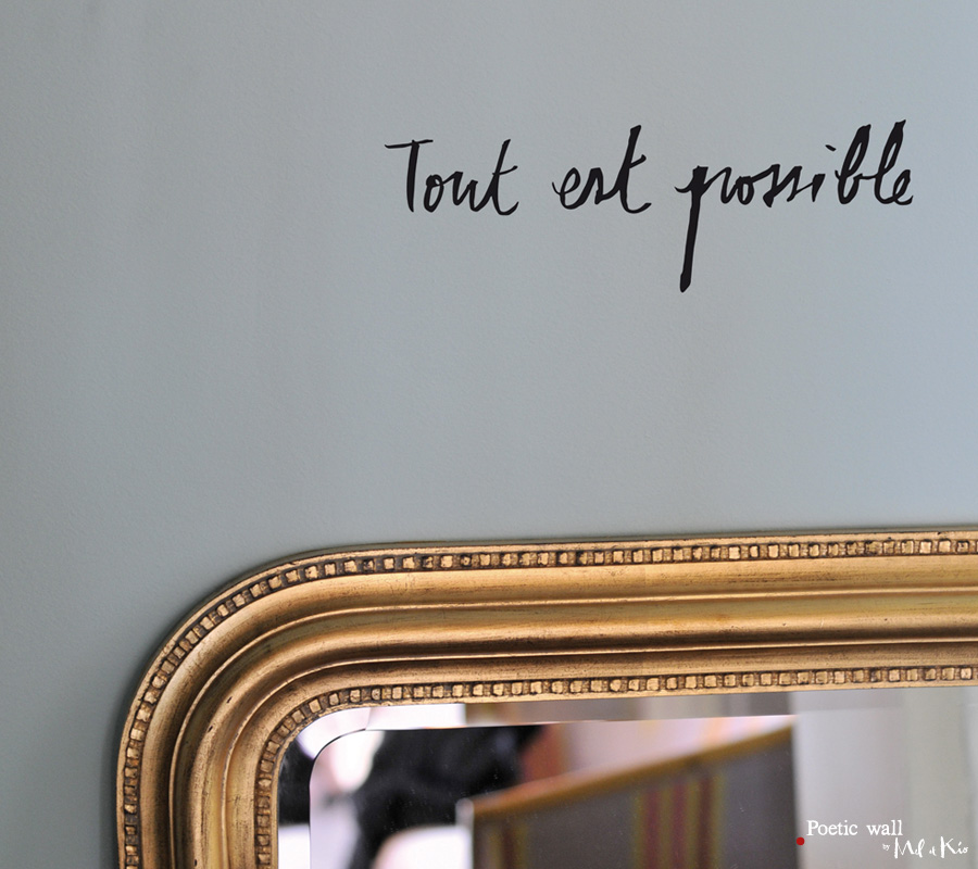 Poetic wall - Stickers texte - Tout est possible