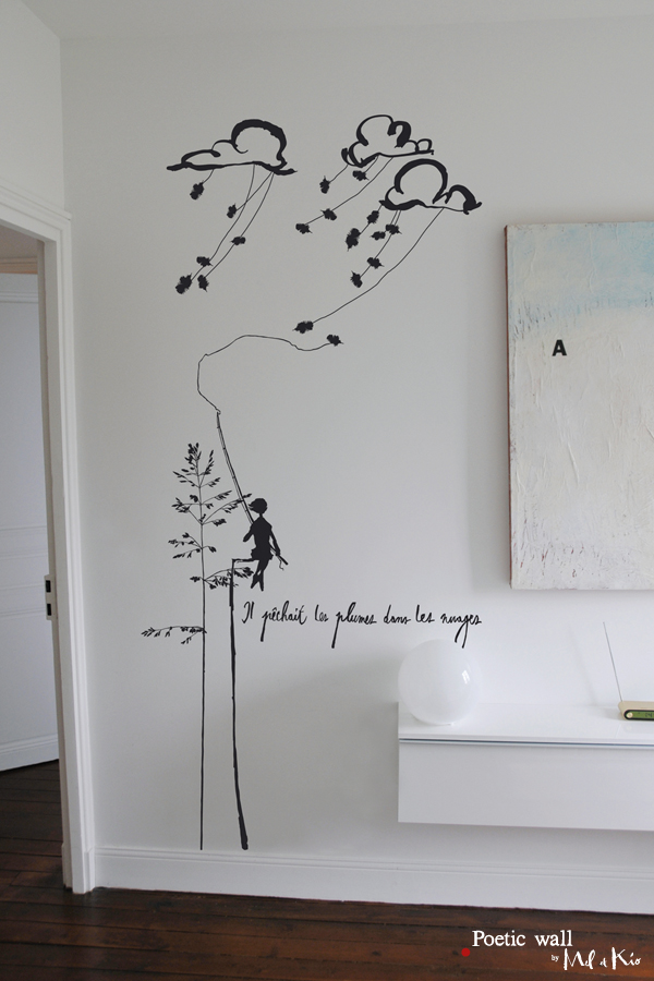Murmure Conte de nuages Sticker Poetic wall