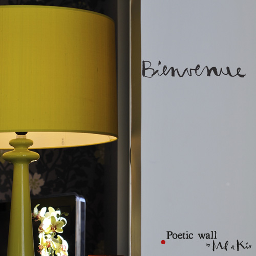 Poetic wall - sticker : bienvenue