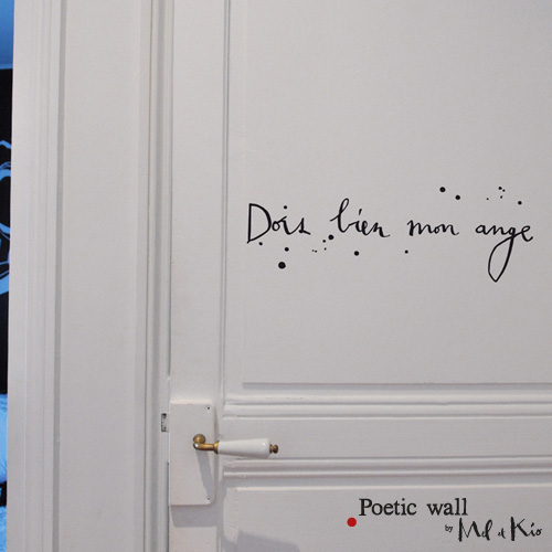 Poetic wall - stickers, stickers - Dors bien mon ange