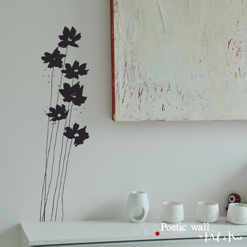 Poetic wall - stickers, stickers - Fleurs d'encre