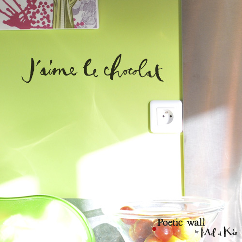 poetic wall ® stickers sticker : j'aime le chocolat