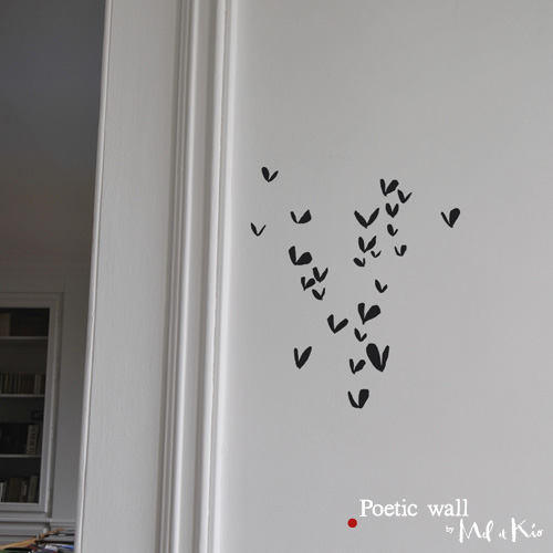 Poetic wall - stickers, stickers - Jour de coeur