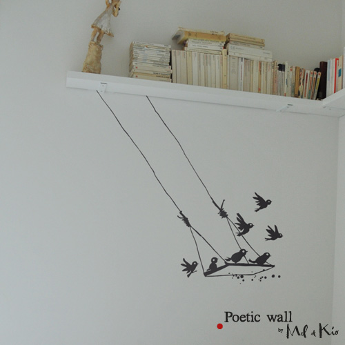 Poetic wall - stickers, stickers - La balancoire