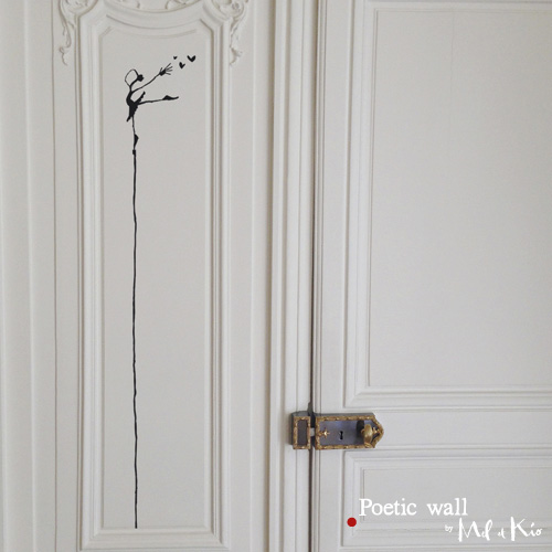 Poetic wall - stickers, stickers - La danseuse