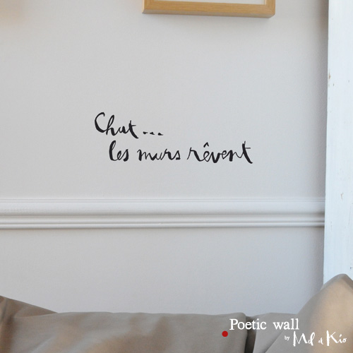 Poetic wall - stickers, stickers - les murs rêvent