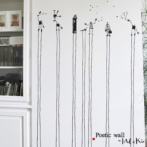 Poetic wall - stickers, stickers - Les tout là-haut