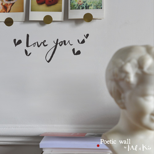 poetic wall ® stickers sticker : Love you