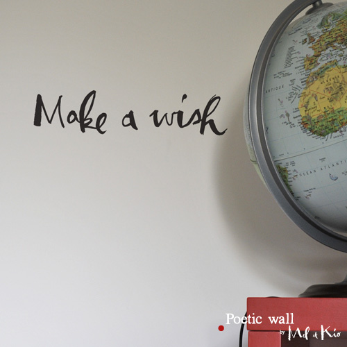 poetic wall ® stickers sticker : Make a wish