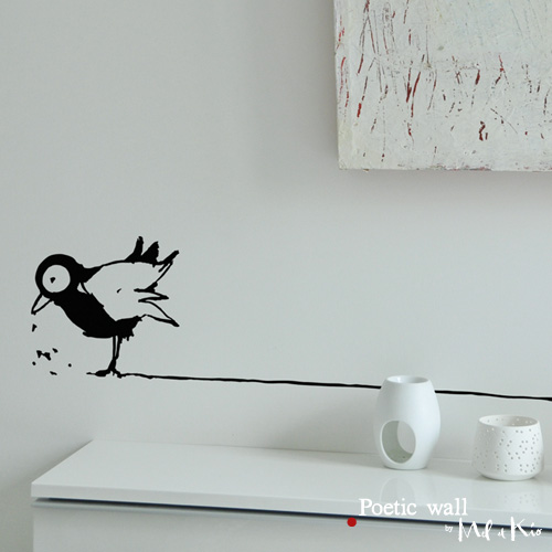 Poetic wall - stickers, stickers - Monsieur Oiseau