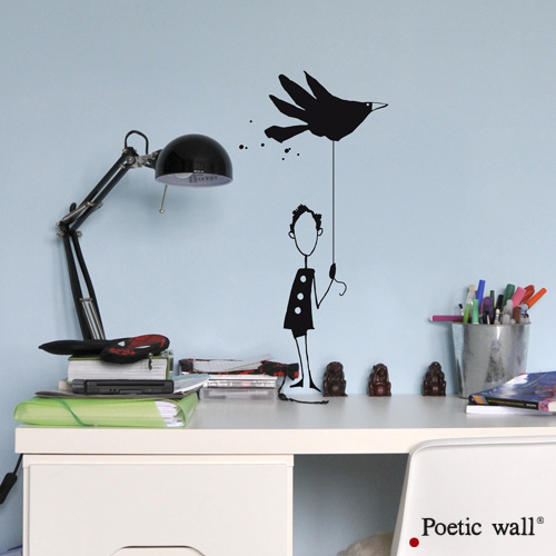 Poetic wall - stickers - Le petit garcon