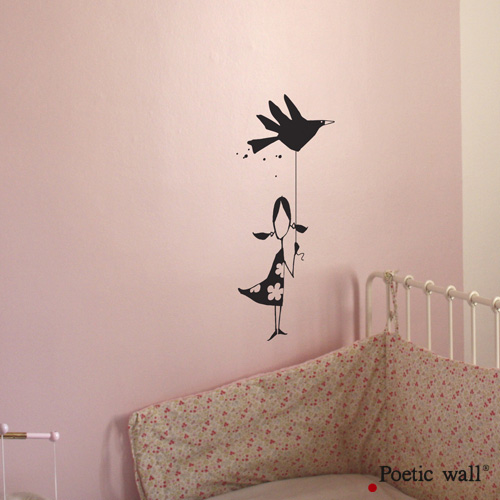 Poetic wall - stickers - La petite fille