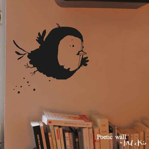 Poetic wall - stickers, stickers - Piaf