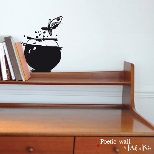 Poetic wall - Sticker - Poisson volant