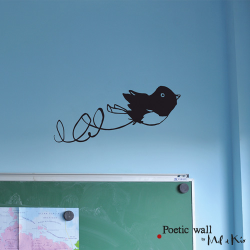 Poetic wall - stickers, stickers - Ptit moineau