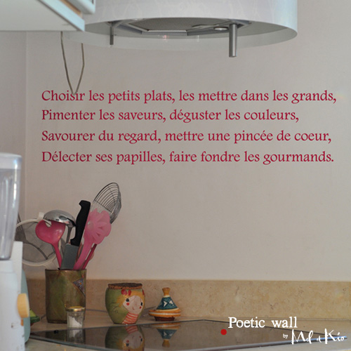 Stickers Choisir les petits plats Poetic Wall