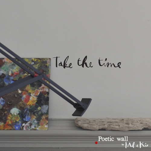 poetic wall ® stickers sticker : take the time