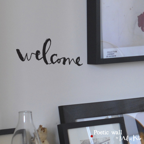 poetic wall ® stickers sticker : welcome