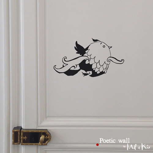 Poetic wall - stickers, stickers - Tattoo nuage