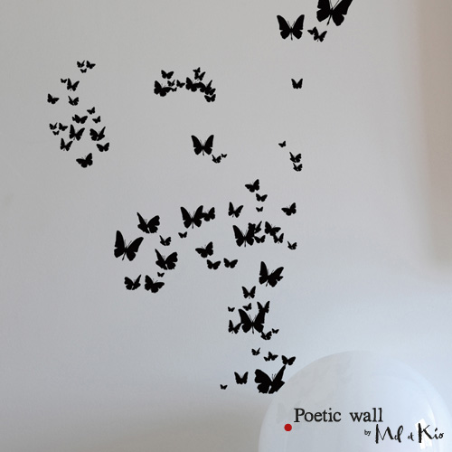 Poetic wall - stickers, stickers - Tous les papillons