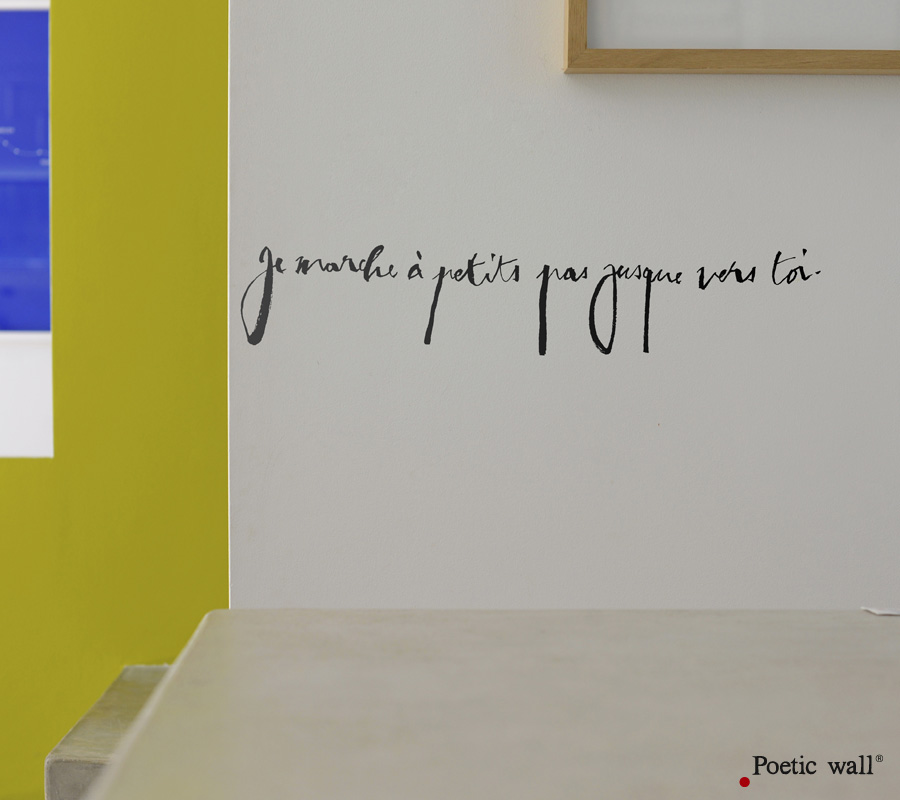 poetic wall stickers dessins textes poetic wall. Black Bedroom Furniture Sets. Home Design Ideas
