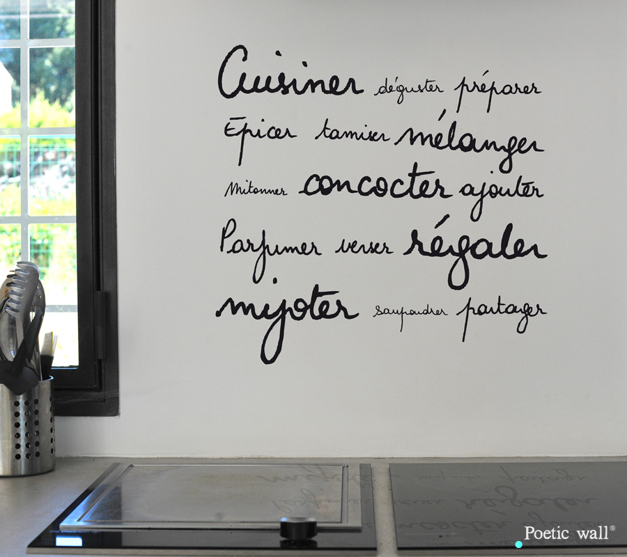 Poetic wall - Stickettes & Billets doux - Cuisiner