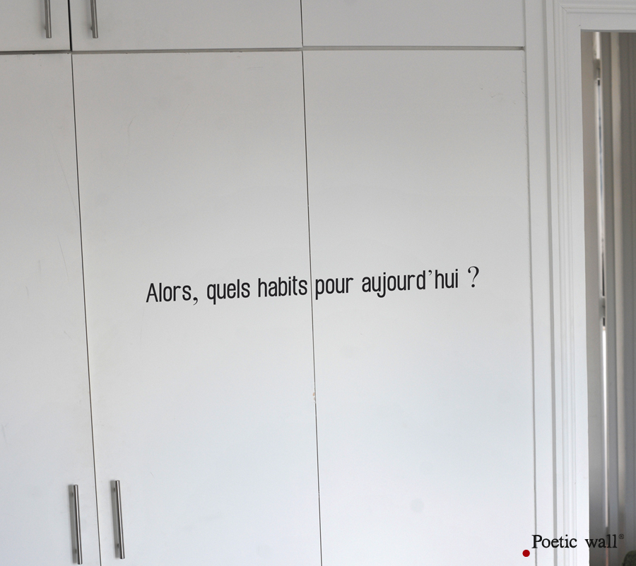 Poetic wall - Stickettes & Billets doux - Quels habits