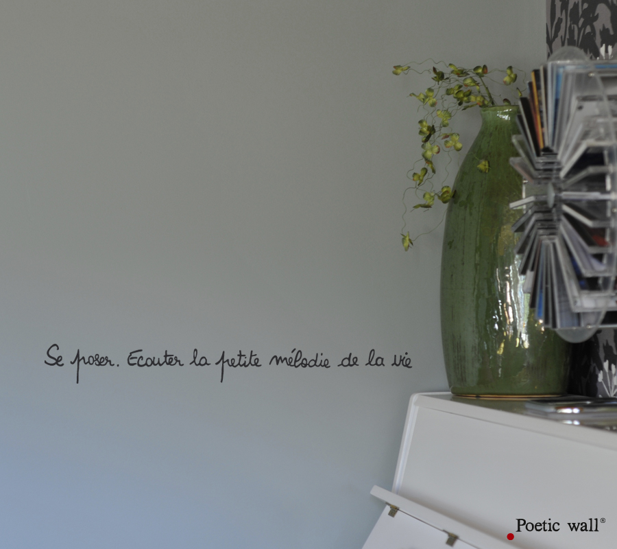 Poetic wall - Stickettes & Billets doux - Se poser
