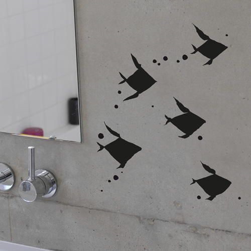 Poetic wall - Stickettes et billets doux - Poissongami