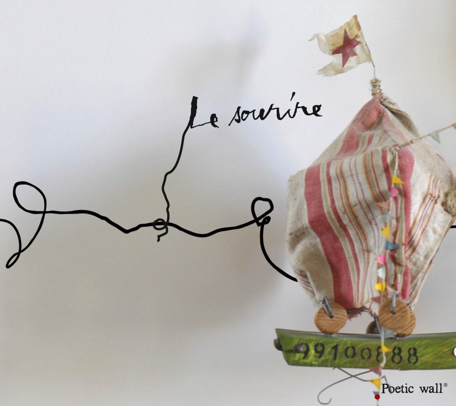 "Poetic wall - Charmette ""Le sourire"""
