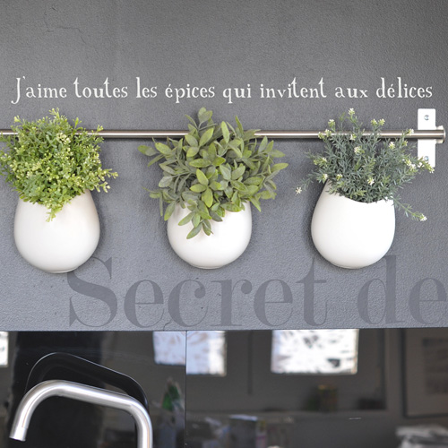 Poetic wall - Stickettes & Billets doux - Épices