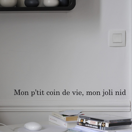 Poetic wall - Stickettes & Billets doux - Joli nid