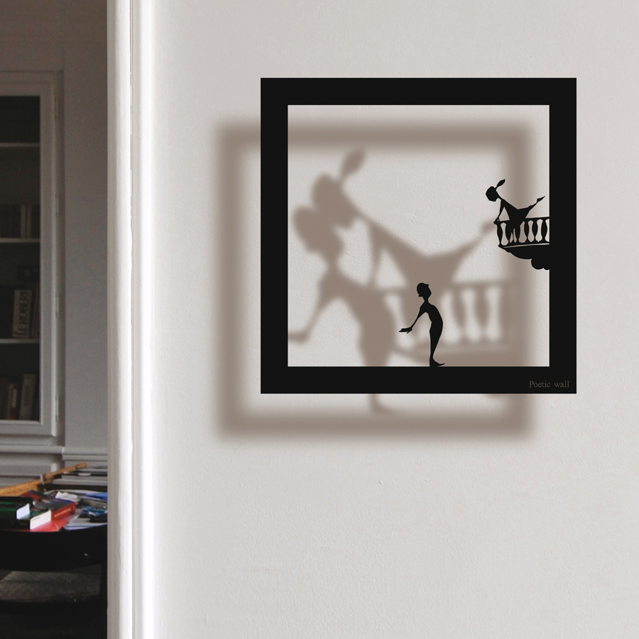 Poetic wall - Accueil - Stickers Cadre Ombre - Stickers effet 3d