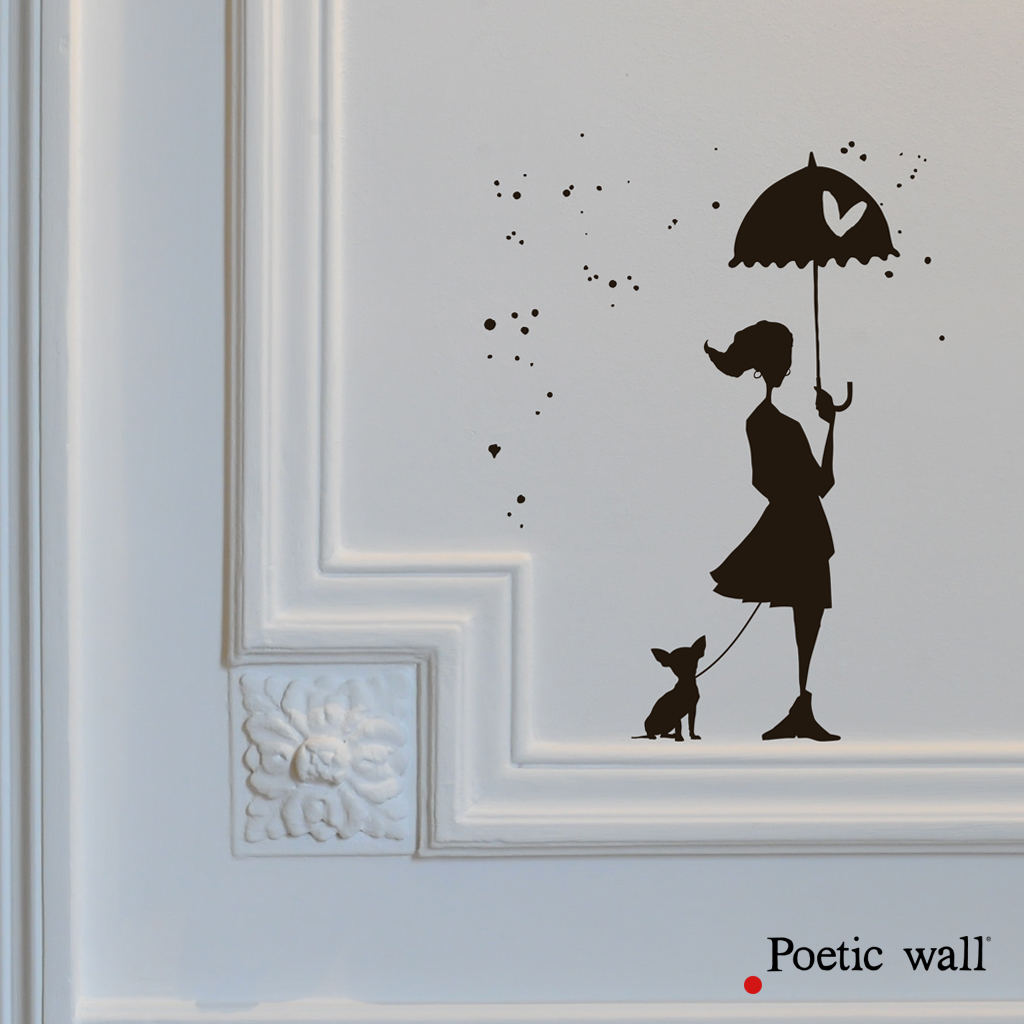 poetic-wall-stickers-dessin-encre-de-chine-le-rendez-vous