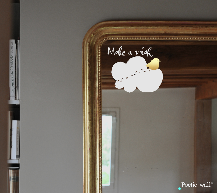Poetic wall - stickers - Wish cloud