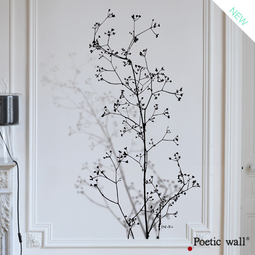 murmures stickers xxl poetic wall. Black Bedroom Furniture Sets. Home Design Ideas