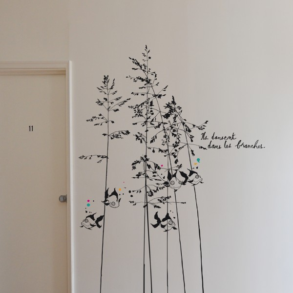 poeticwall-sticker-xxl-murmures-des poissons dans les branches-2