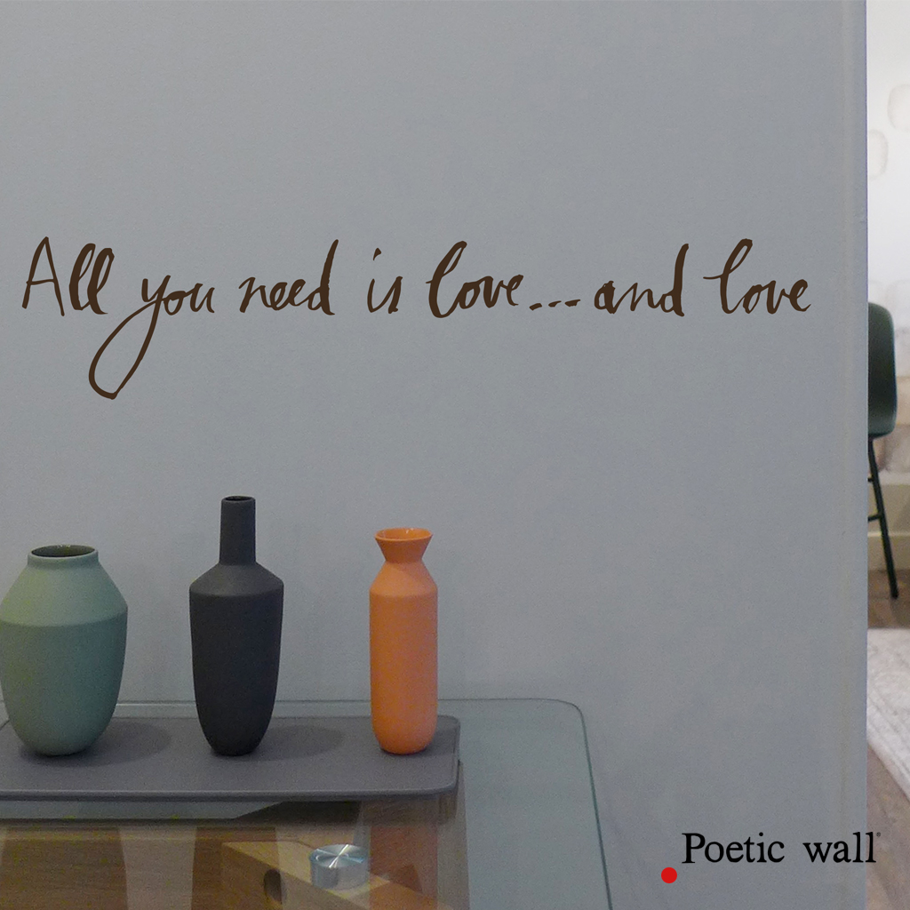 stickers poetic wall all you need is love
