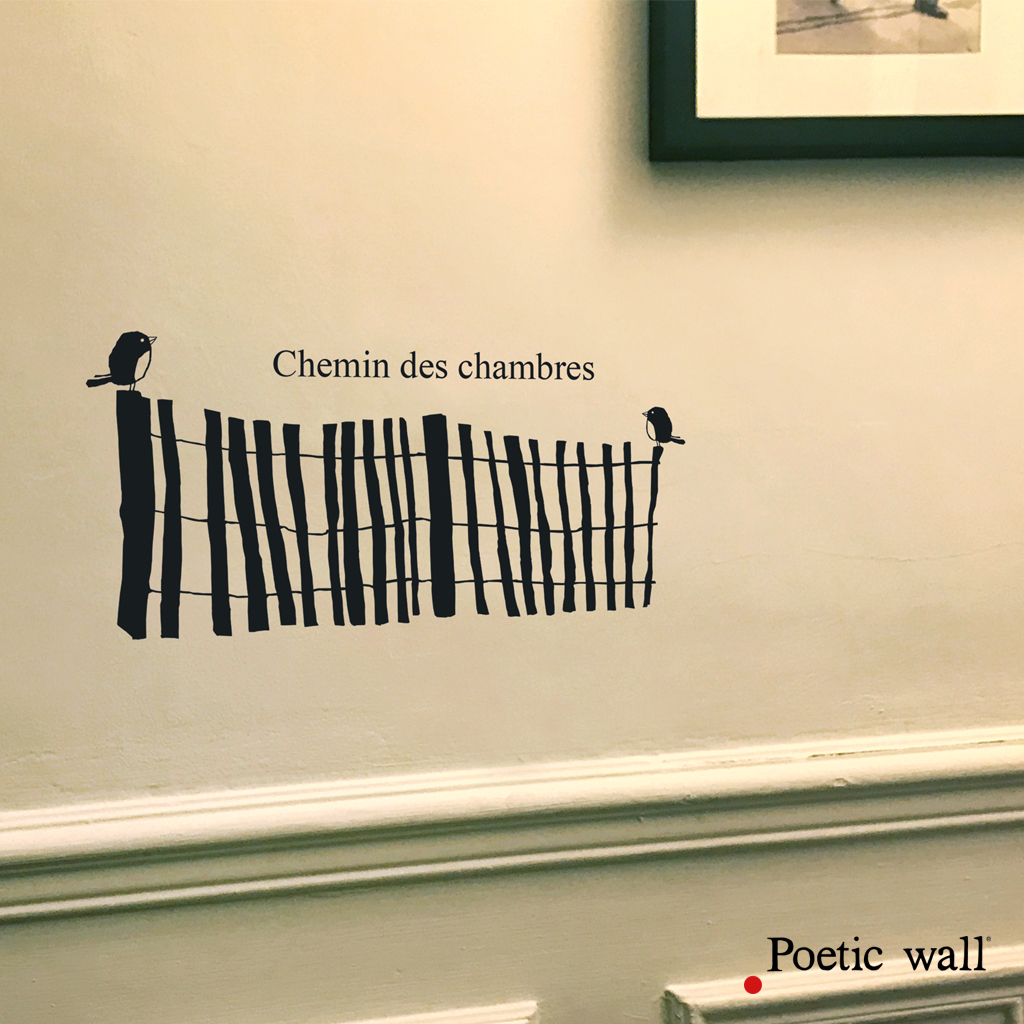 Sticker mer chemin des chambres Poetic Wall