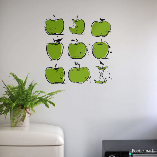sticker cuisine Pommes Poetic Wall