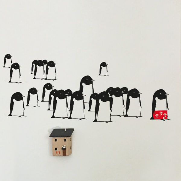 Stickers pingouins grand format